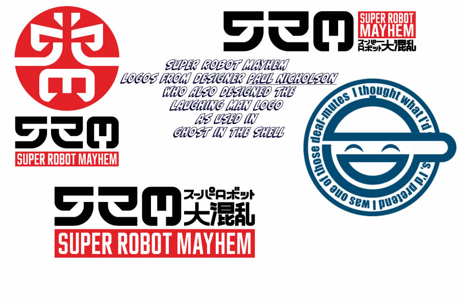 Super Robot Mayhem logo by Paul Nicholson