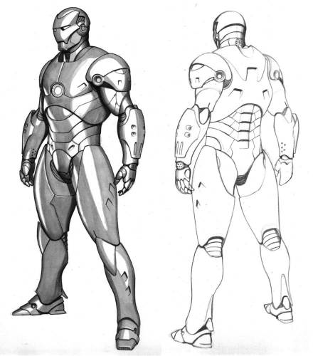 Iron man 2 Movie costume concept by Adi Granov