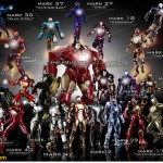 All the Hot Toys Iron Man armors in one picture