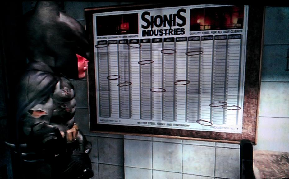 Arkham City Calendar Man Dates and Location
