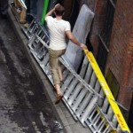 Chris Evans on set in Manchester pictures
