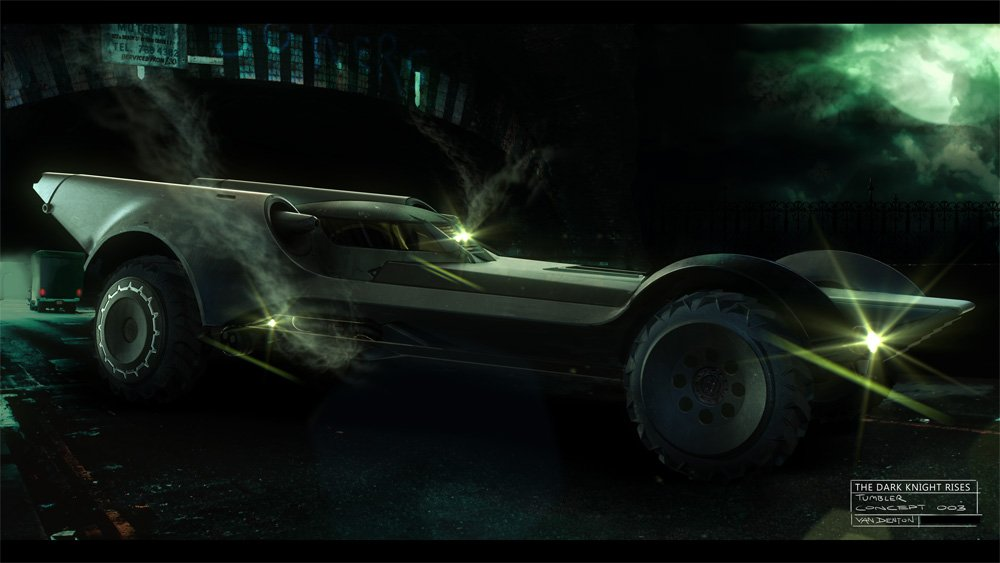 the dark knight rises catwoman concept art. Dark Knight Rises Batmobile