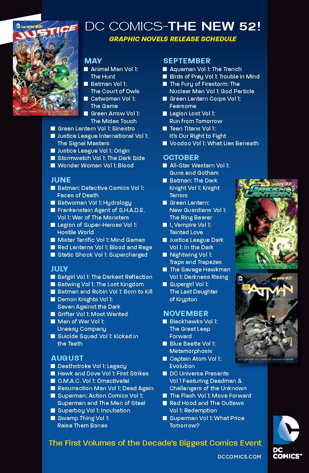 DC New 52 Graphic Novels