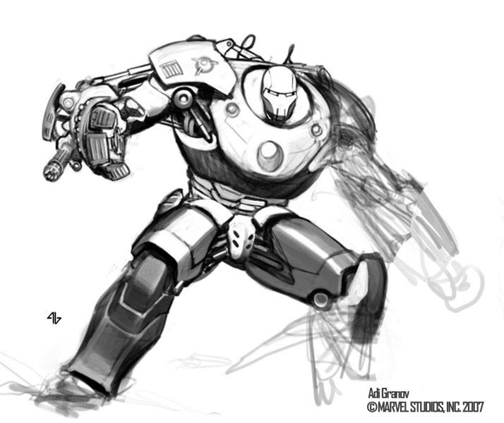 Iron man 2 movie costume concept by adi granov - Comics dessin ...