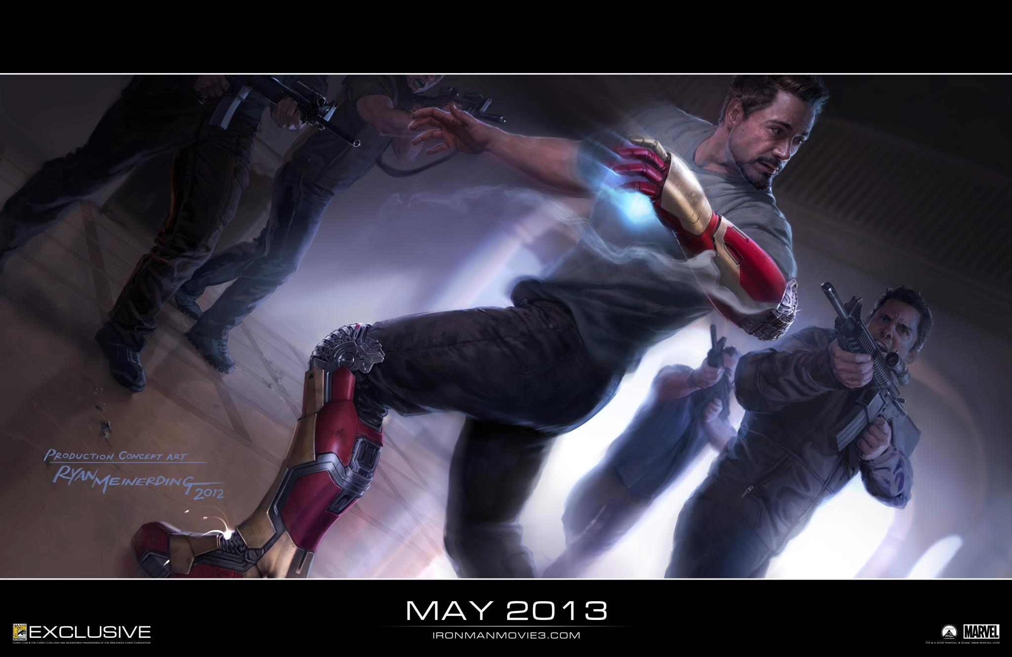 Iron Man 3 Extremis Concept Art