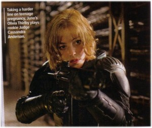 Judge Anderson picture from Dredd Movie