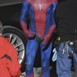 On set pictures of Spiderman