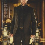 Wolverine shows off his new suit in the March Empire magazine
