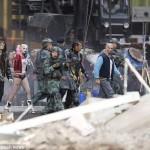 suicide squad on set team photo