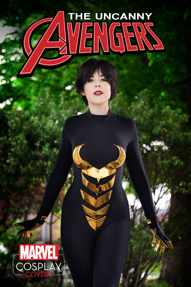Uncanny Avengers cosplay cover Miss Kit Quinn as The Wasp