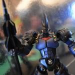 Close up robot king toy