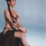 Carrie Fisher Slave costume photo