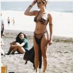 Leia on the beach
