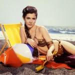 Leia with beach ball