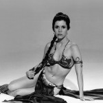 Princess Leia black and white