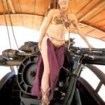 Princess Leia on sail barge
