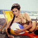 Princess Leia with beach ball