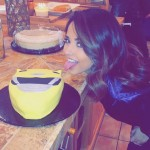 BEcky Gomez eating a Power Rangers cake
