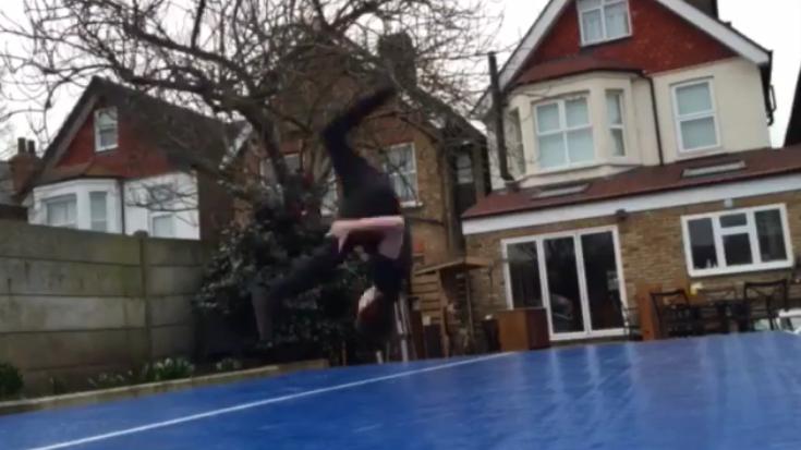 Tom Holland Jumping like Spider-man