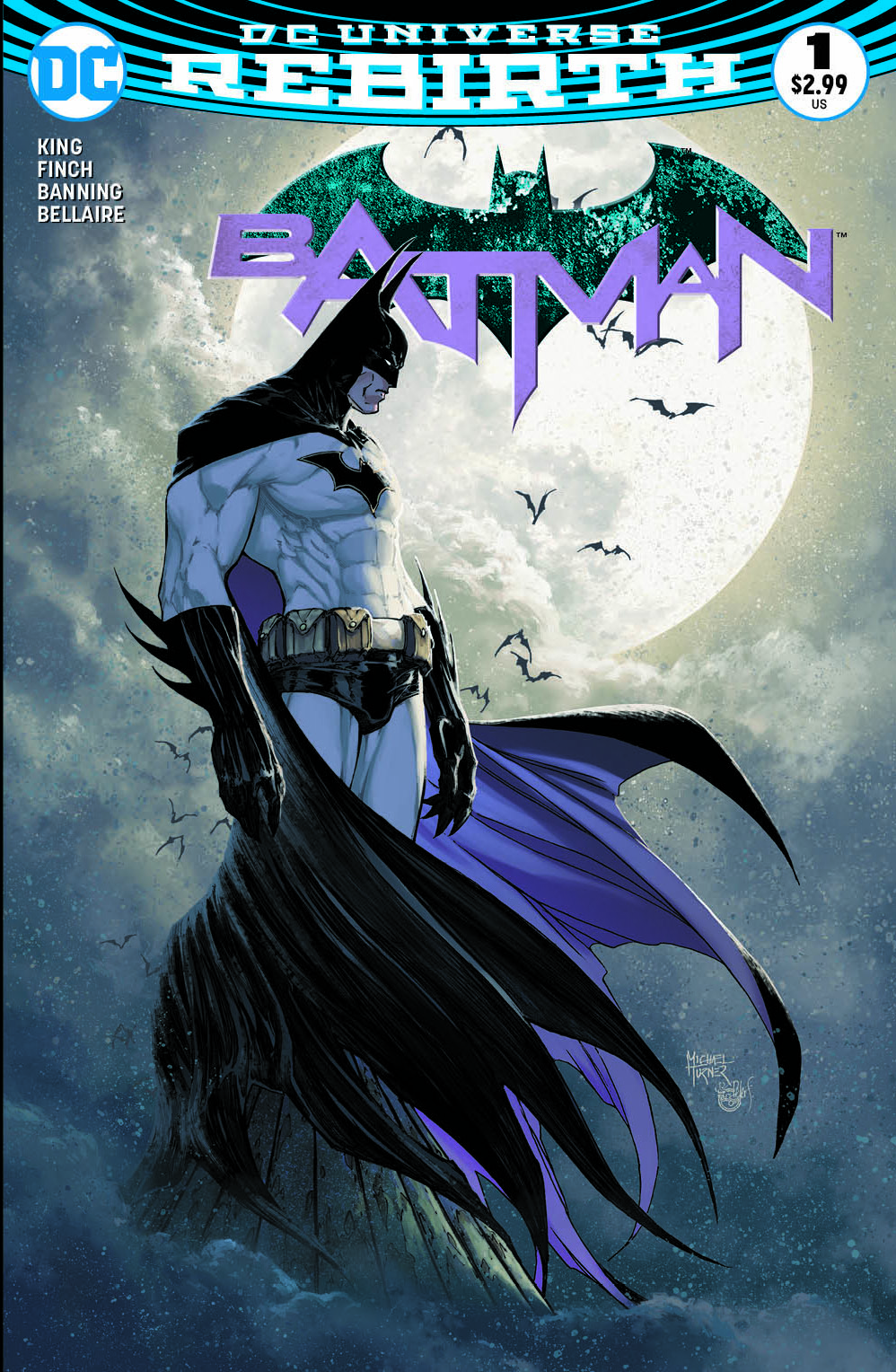 Michael Turner Batman Rebirth cover