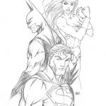 Justice League 1 Michael Turner Exclusive Sketch Cover