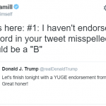 Mark Hamil responds to Donald Trump tweet