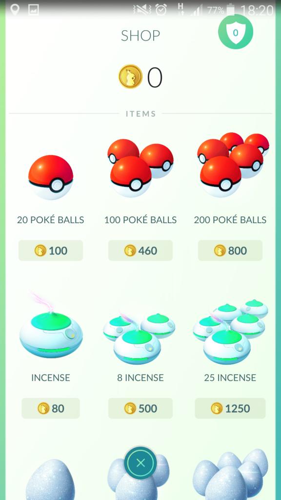 Pokemon Go Shop Image