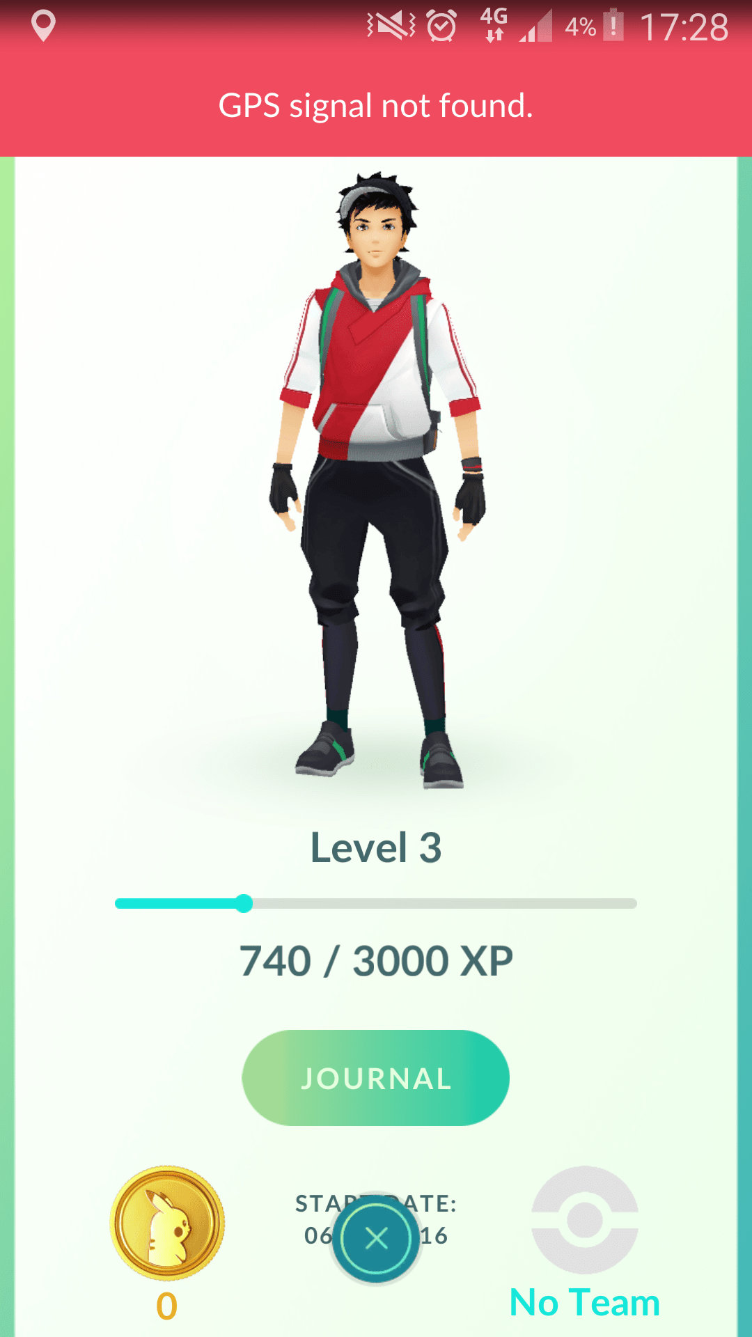 Pokemon go user profile