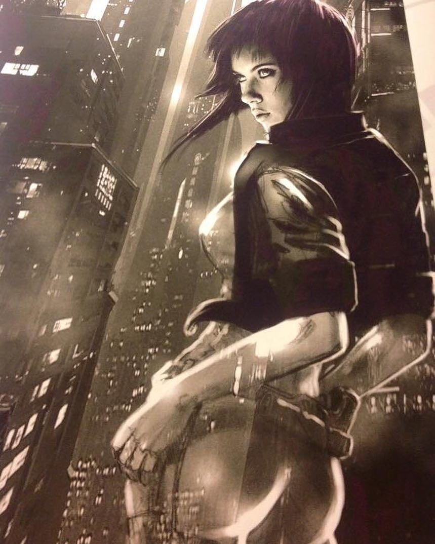 Leaked Ghost In The Shell Movie Character Photos Concept Art And Scarlett Johansson Posters