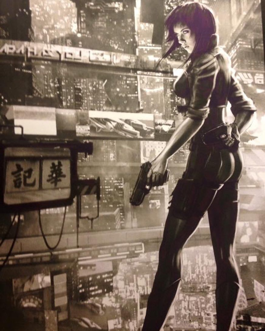 Scarlett Johansson Ghost In The Shell Poster Image